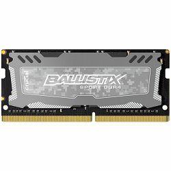 Memorija Crucial DRAM 8GB DDR4 2400 MT/s (PC4-19200) CL16 DR x8 Unbuffered SODIMM 260pin Ballistix Sport LT DDR 4 SODIMM - Grey, EAN: 649528777058