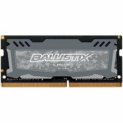 Memorija Crucial DRAM 8GB DDR4 2400 MT/s (PC4-19200) CL16 SR x8 Unbuffered SODIMM 260pin Ballistix Sport LT DDR 4 SODIMM - Grey, EAN: 649528778468