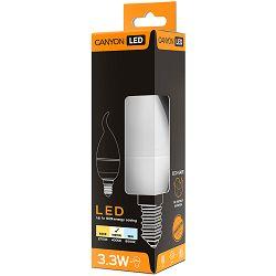 CANYON BXE14FR3.3W230VN LED lamp, BXS38 shape, milky, E14, 3.3W, 220-240V, 150°, 262 lm, 4000K, Ra>80, 50000 h