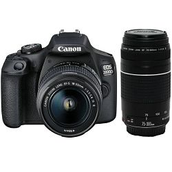Canon EOS 2000D + 18-55mm + EF 75-300mm