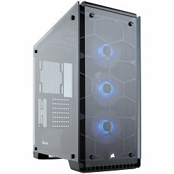 Kućište Corsair Crystal Series 570X RGB, Tempered Glass, Premium ATX Mid-Tower, SP120 RGB LED fans with LED controller