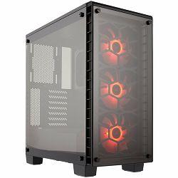 Kućište Corsair Crystal Series 460X RGB Compact ATX Mid-Tower Case, SP120 RGB LED fans