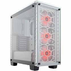 Corsair Crystal Series 460X RGB Compact ATX Mid-Tower Case White