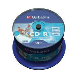 CD-R Verbatim 700MB 52× DataLife PRINTABLE 50 pack spindle