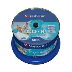 CD-R Verbatim 700MB 52× DataLife+ Wide PRINTABLE (No ID) 50 pack spindle
