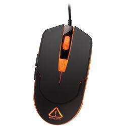 Optical gaming mouse, adjustable DPI setting 800/1200/1600/2400, LED backlight, Black