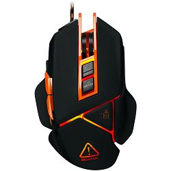 Gaming miš Canyon CND-SGM6N, adjustable DPI setting 800/1000/1200/1600/2400/3200/4800/6400, LED backlight, moveable weight slot and retractable top cover for comfortable usage