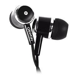 Stereo earphones with microphone, Black