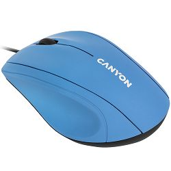 Wired Optical Mouse with 3 keys, DPI 1000 With 1.5M USB cable,Light Blue,size 72*108*40mm,weight:0.077kg