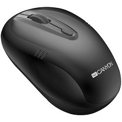 Miš Canyon 2.4Ghz wireless mouse, optical tracking - red LED, 4 buttons, DPI 1000/1200/1600, Black