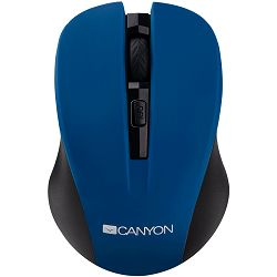 Miš CANYON CNE-CMSW1(Wireless, Optical 800/1000/1200 dpi, 4 btn, USB, power saving button), Blue