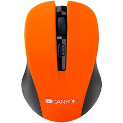 Miš CANYON CNE-CMSW1(Wireless, Optical 800/1000/1200 dpi, 4 btn, USB, power saving button), Orange