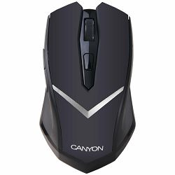Miš CANYON CNE-CMSW3 (Wireless, Optical 800/1280 dpi, 4 btn, USB, power saving technology), Black
