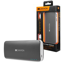 Battery charger for portable device 10000 mAh (Dark Grey)
