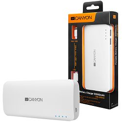 Battery charger for portable device 10000 mAh  (White)