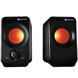 2.0 portable USB power speakers 3.5mm audio jack with volume control