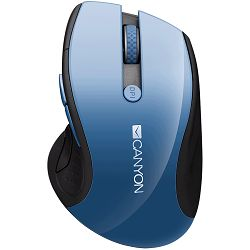 Miš Canyon 2.4Ghz wireless mouse, optical tracking - blue LED, 6 buttons, DPI 1000/1200/1600, Blue Gray pearl glossy