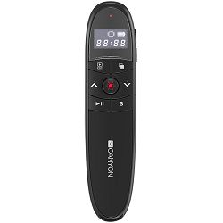 2.4Ghz laser wireless presenter, red laser indicator, LCD display timer, Black