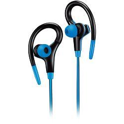 Slušalice sa mikrofonom Canyon stereo sport, 1.2m flat cable, blue
