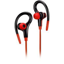 Slušalice sa mikrofonom Canyon stereo sport, 1.2m flat cable, red