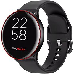 CANYON Marzipan SW-75 Smart watch, 1.22inches IPS full touch screen, aluminium+plastic body,IP68 waterproof, multi-sport mode with swimming mode, compatibility with iOS and android,black-red body with