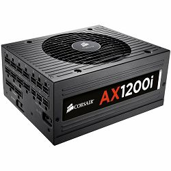 Napajanje CORSAIR AX Series AC 90-264V, 1200W, Retail, Active PFC, Cable Management, Automatic Fan Control, Efficiency 92%