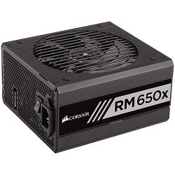 Napajanje Corsair PSU Enthusiast Series RM650x Power Supply, Fully Modular 80 Plus Gold 650 Watt, EU Version