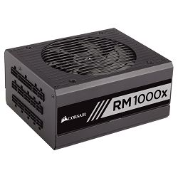 Corsair PSU Enthusiast Series RM1000x Power Supply, Fully Modular 80 Plus Gold 1000 Watt, EU Version