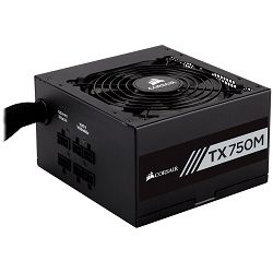 Corsair Enthusiast Series TX750 Watt Modular Power Supply 80 Plus Gold Certified, EU Version