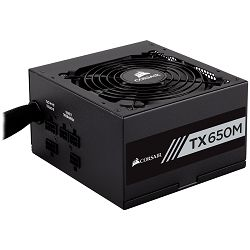 Corsair Enthusiast Series TX650 Watt Modular Power Supply 80 Plus Gold Certified, EU Version