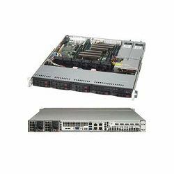 Supermicro Server Chassis CSE-113MFAC2-R804CB, 1U, MB ATX 12x10, 8x2.5 Hot-swap SAS3/SAS2/SATA Hybrid backplane, 2xNVMe support, 1xSlim DVD Optional, 1xFF slots, 1+1 800W RPS, 4xFan, Rails, Black, 3 y