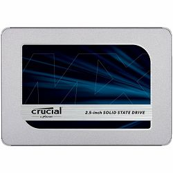 "SSD CRUCIAL MX500 2TB, 2.5"" 7mm (with 9.5mm adapter), SATA 6 Gbit/s, Read/Write: 560 MB/s / 510 MB/s, Random Read/Write IOPS 95K/90K"