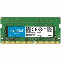Memorija CRUCIAL DRAM 4GB DDR4 2666 MT/s (PC4-21300) CL19 SR x8 SODIMM 260pin , EAN: 649528787286