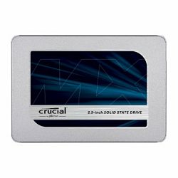 CRUCIAL MX500 500GB SSD, 2.5 7mm (with 9.5mm adapter), SATA 6 Gbit, s, Read, Write: 560 MB, s ,  510 MB, s, Random Read, Write IOPS 95K, 90K