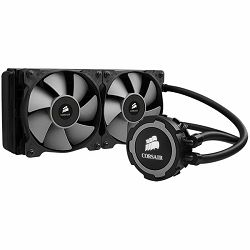 Corsair Hydro Series H105, Intel™ LGA 1150, 1155, 1156, 1366, and 2011 + AMD sockets AM2, AM3 and FM1, dual 120mm fan + 120x275mm radiator