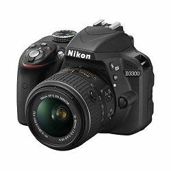 Digitalni fotoaparat NIKON D3300, 24.2 Mpixela, 5x optički zoom, SD/SDHC/SDXC, USB, + objektiv AF-P 18-55VR, crni