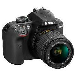 Digitalni fotoaparat NIKON D3400, 24.2 Mpixela, 5x optički zoom, SD/SDHC/SDXC, USB, + objektiv AF-P 18-55VR, crni