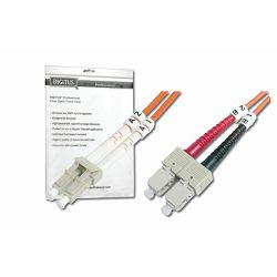 Digitus Fiber Optic Multimode Patch Cord, LC SC 1m
