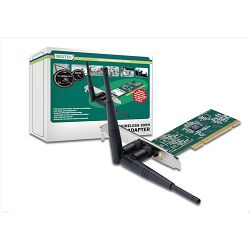 Mrež. kart. Digitus Wireless 300N PCI Adapter