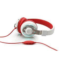Slušalice Ednet BeatLight, crveno-bijele