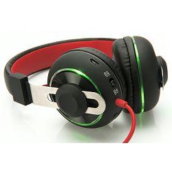 Slušalice Ednet BeatLight, crno-crvene