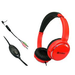 Slušalice Sandberg Street Headset, crvene