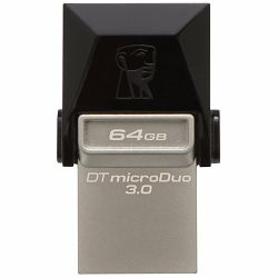 64GB DT microDuo USB 3.0/ micro USB OTG 5 Yrs