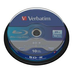 DVD Blu-Ray Verbatim BD-R SL 6× 25GB White Blue Surface 10 pack spindle (Single Layer)