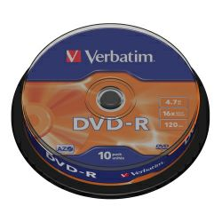 DVD-R Verbatim 4.7GB 16× Matt Silver 10 pack spindle