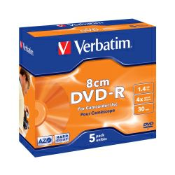 DVD-R Verbatim 1.4GB,8cm 4× Matt Silver Hardcoated 5 pack JC
