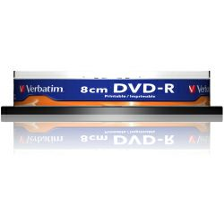 DVD-R Verbatim 1.4GB,8cm 4× Matt Silver Hardcoated Wide PRINTABLE 10 pack spindle