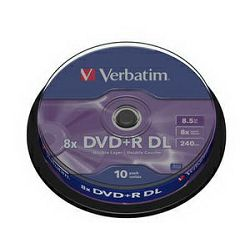 VERBATIM DVD+R DL 10kom S, 8x, 8.5GB