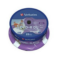 VERBATIM DVD+R DL 25 S, 8x, 8.5GB no ID