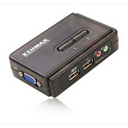 Edimax 2-ports USB KVM switch audio/mic support